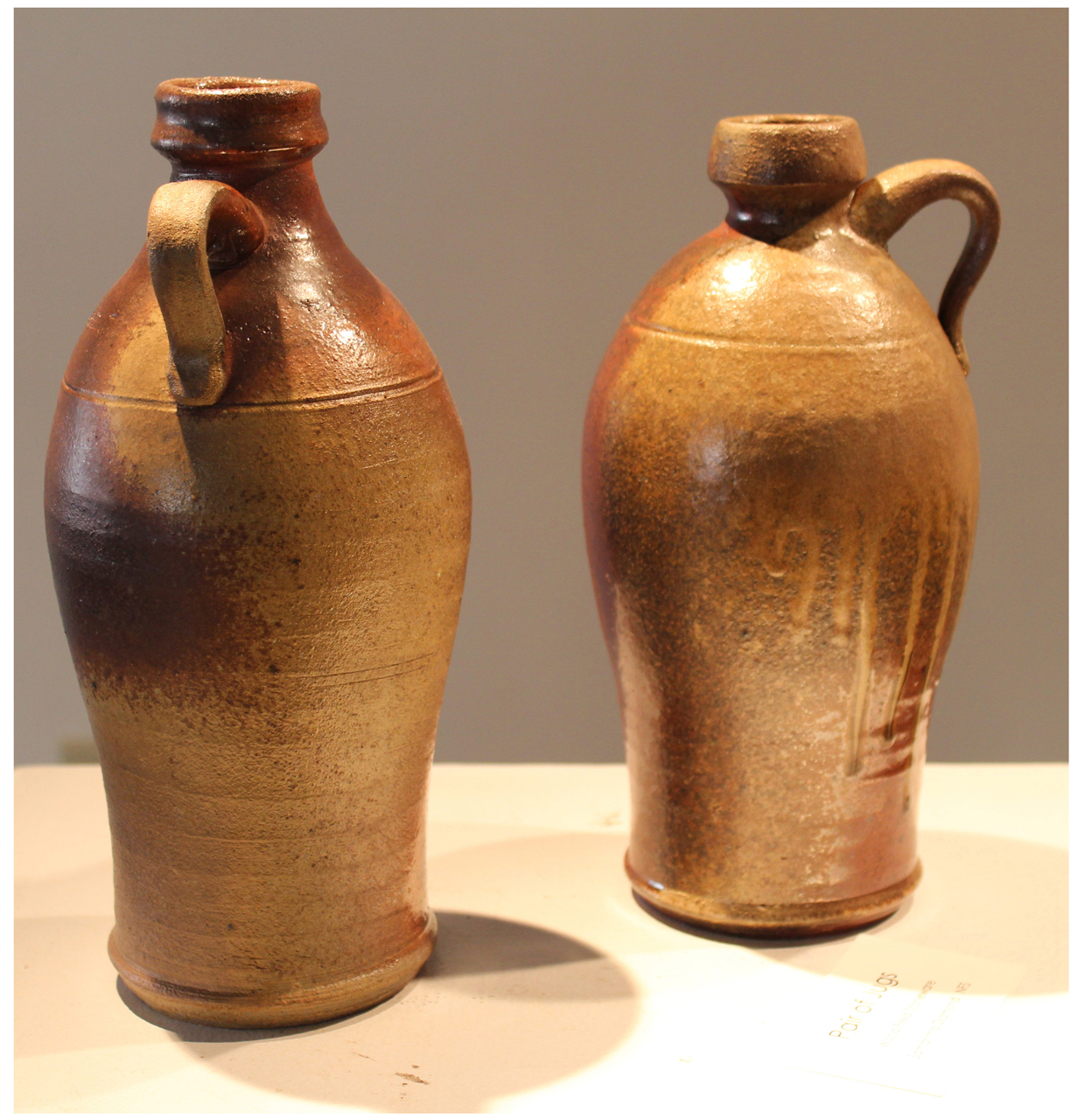 Wood fired Pair of Jugs
