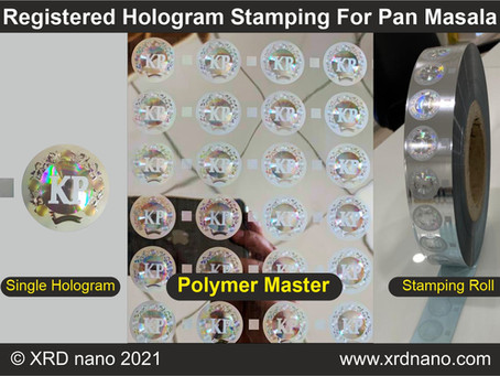 Registered Hologram Stamping for Pan Masala