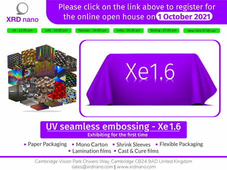 Online open house of Xe 1.6 on 1 October 2021