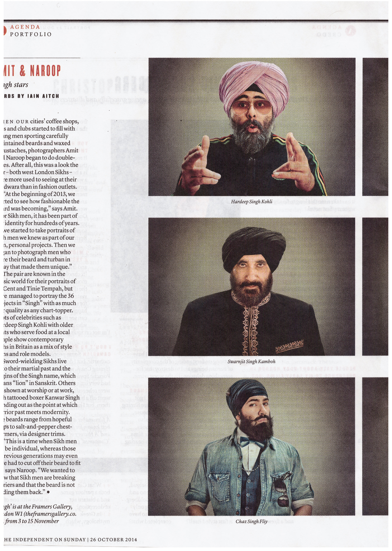 The Singh Project The Independant on Sunday (The New Review) p3 28.10.2014_edite