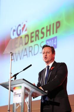 David Cameron at the GG2 Awards