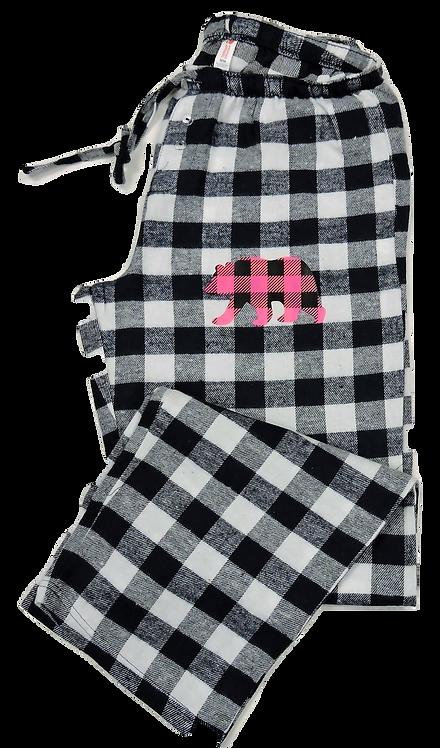 PJ2000-Plaid Bear Hot Pink