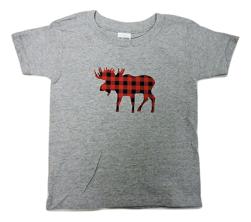310-Plaid Moose Red Small