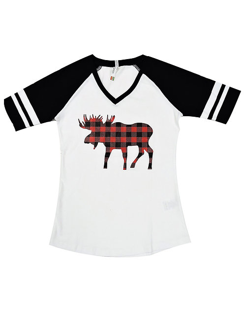 0822L-Plaid Moose Red