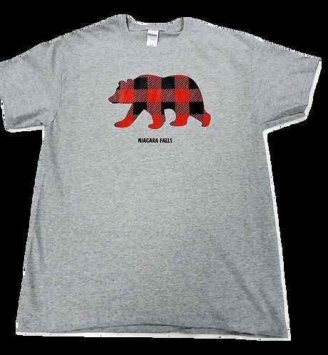 7101-Plaid Bear Red