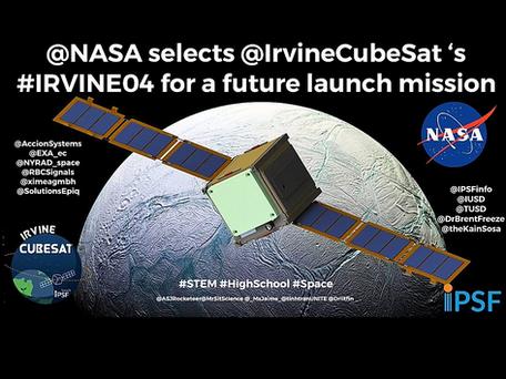 Las partes de EXA estarán en IRVINE 04, seleccionadas por la NASA
