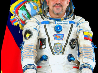 The 1st Ecuadorian Cosmonaut, Cdr. Ronnie Nader, EXA's Space Operations Director and founder