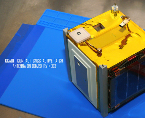 GCA01 Compact GNSS Active Patch Antenna on board IRVINE03