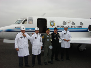 EXA engineers, pilot and commander prior a microgravity mission onboard the FuerzaG-1 Condor