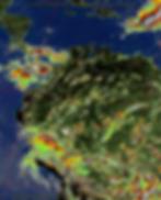 Weather image showing precipitation