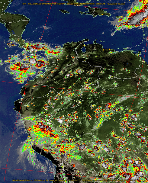 Weather image showing precipitation