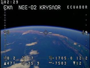 First video from orbit of the 2nd Ecuadorian satellite, the NEE-02 KRYSAOR
