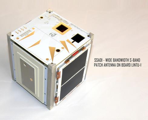 SSA01 S-Band Patch Antenna onboard LINTU-1 Cubesat