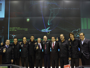 The EXA team after the successful insertion into orbit of the 1st Ecuadorian satellite, the NEE-01 PEGASO