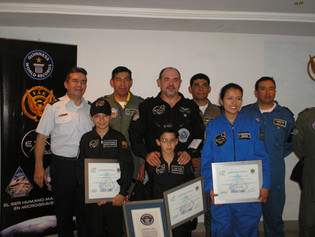 EXA and FAE achieve the Guinness World Record for microgravity during EXA/FAE-05 mission, 19/06/2008