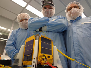 EXA Engineers with the 2nd Ecuadorian satellite, the NEE-02 KRYSAOR