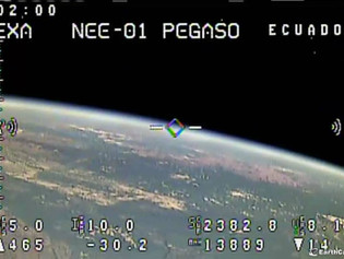 First video transmited from orbit by the 1st Ecuadorian satellite