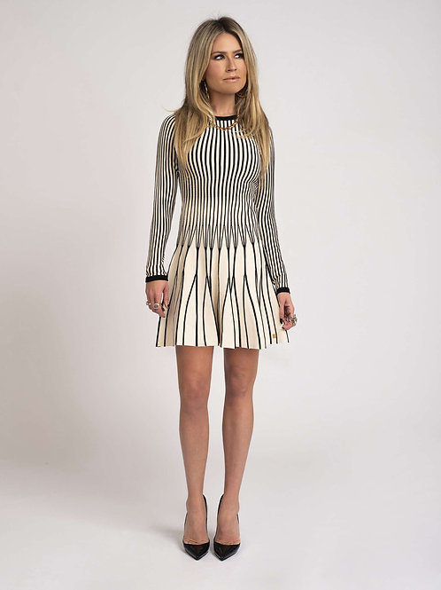 Black Beige Nikkie Dress