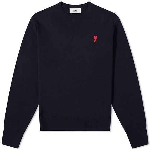 Dark Blue Ami Paris Knitwear
