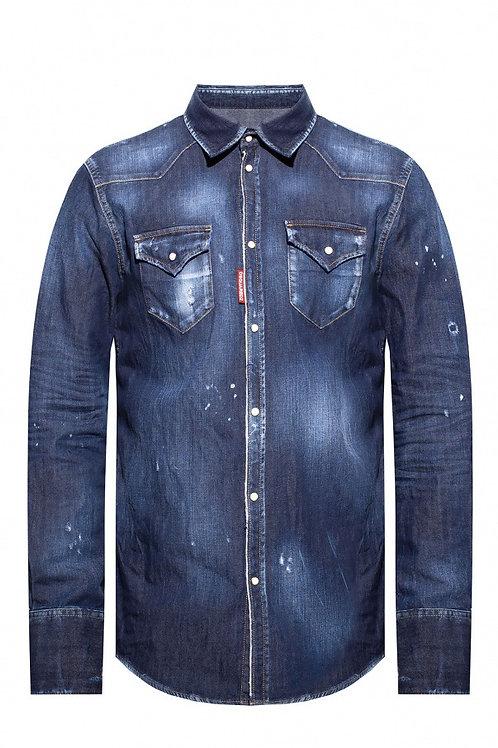 Blue Dsquared2 Shirt