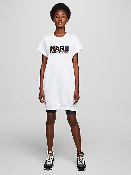 White Karl Lagerfeld Sweatdress