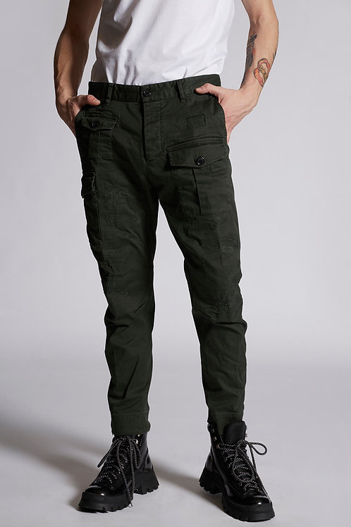 Khaki Dsquared2 Cargo Trouser
