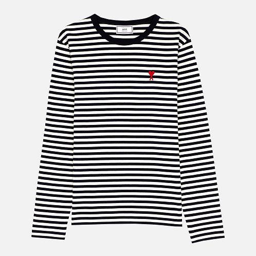 White Blue Ami Paris T-shirt