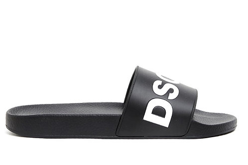 Black Dsquared2 Slides