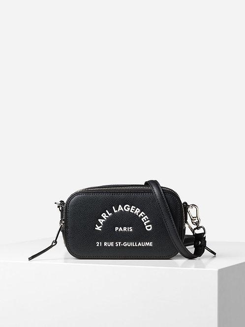 Black Karl Crossbody Bag