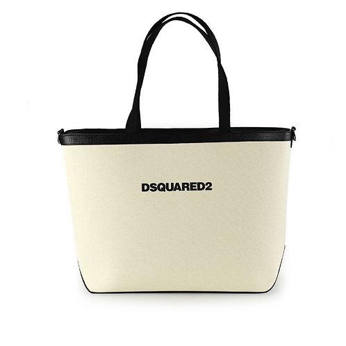 Beige Black Dsquared2 Bag
