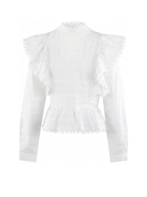 White Silvian Heach Blouse