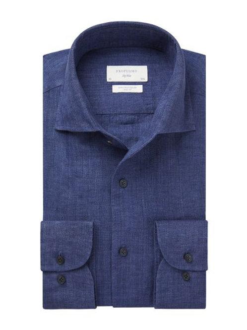 Blue Linen Profuomo Shirt