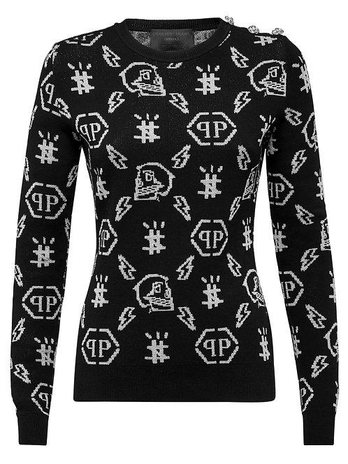 Black Philipp Plein Girls Knitwear