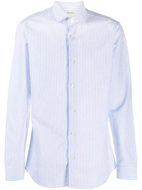 Blue Striped Zegna Shirt