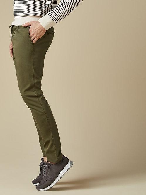 Khaki Cotton Trouser