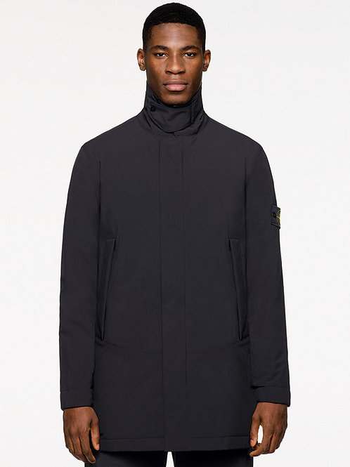 Black Soft Shell Stone Island Coat
