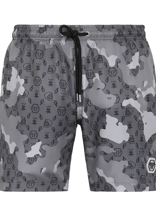 Grey Philipp Plein Swimwear