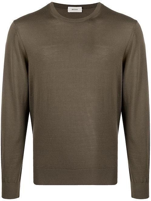 Khaki Zegna Knitwear