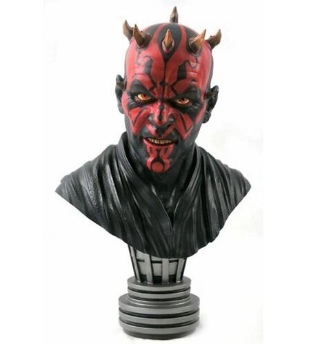 StarWars: Darth Maul  Bust Polystone Pre-painted Statue