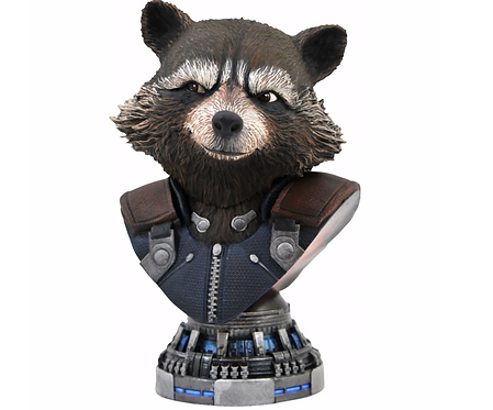 Rocket Raccoon L3D  Bust Polystone Pre-painted Statue