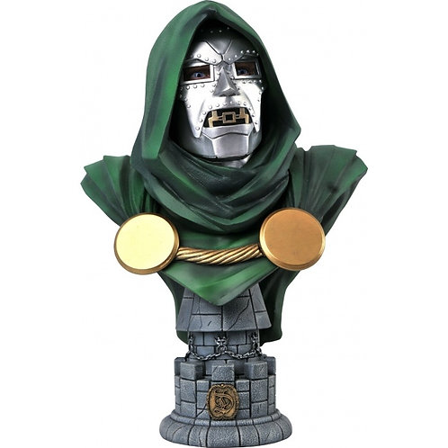 Dr. Doom L3D  Bust Polystone Pre-painted Statue