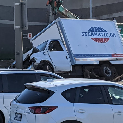 TWO ROAD ACCIDENTS IN EAST END MONTREAL WEDNESDAY (AUGUST 12 2020)