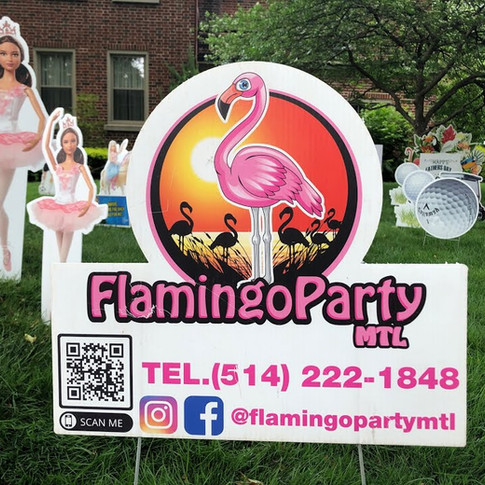 FLAMINGO PARTY MTL: LAWN DECORATIONS FOR ALL OCCASIONS! (MAY 26 2021)