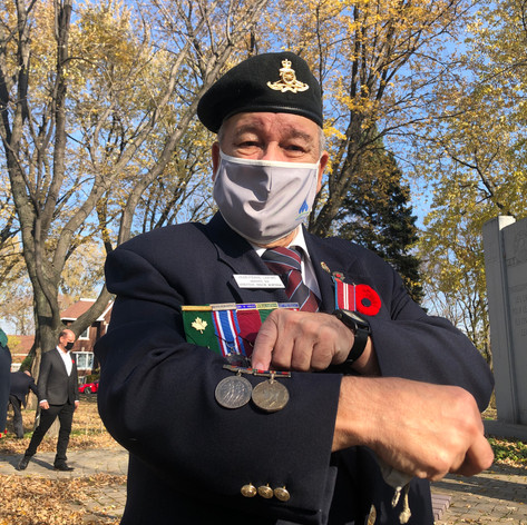 REMEMBRANCE DAY CEREMONY IN MONTREAL EAST (NOVEMBER 8 2020)
