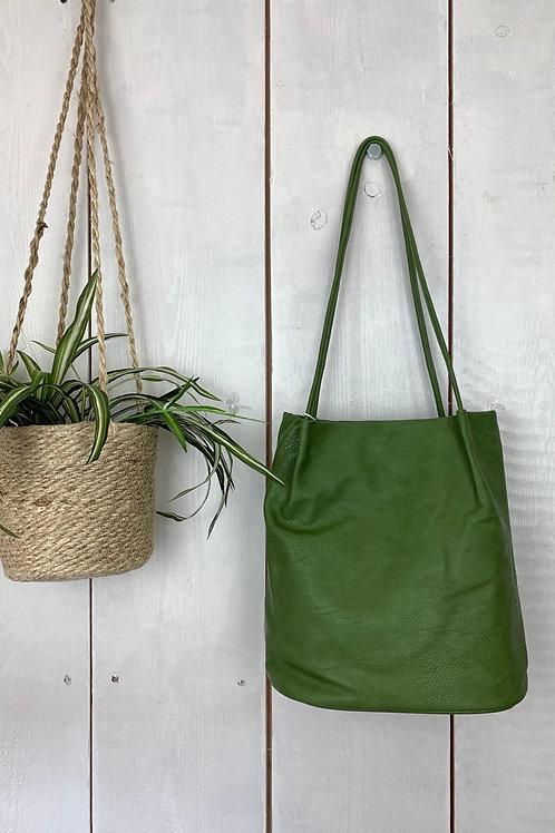 Green Bucket Bag