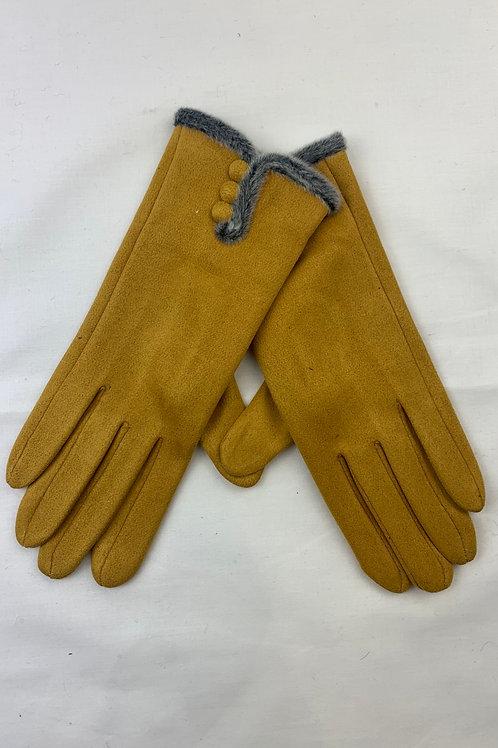 Mustard Button Gloves