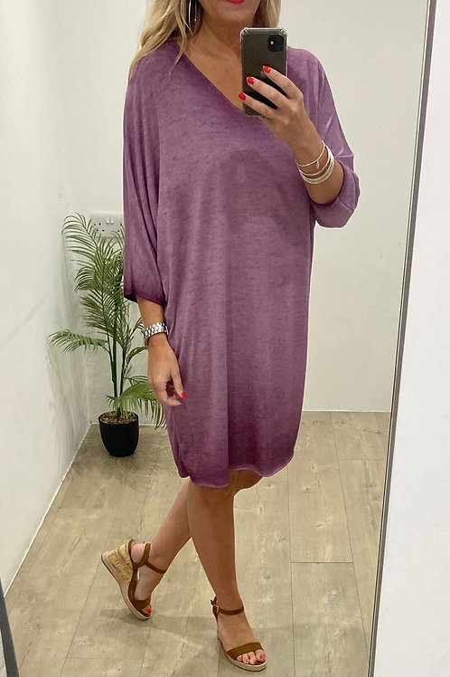 Lightweight V Neck Dress/Tunic