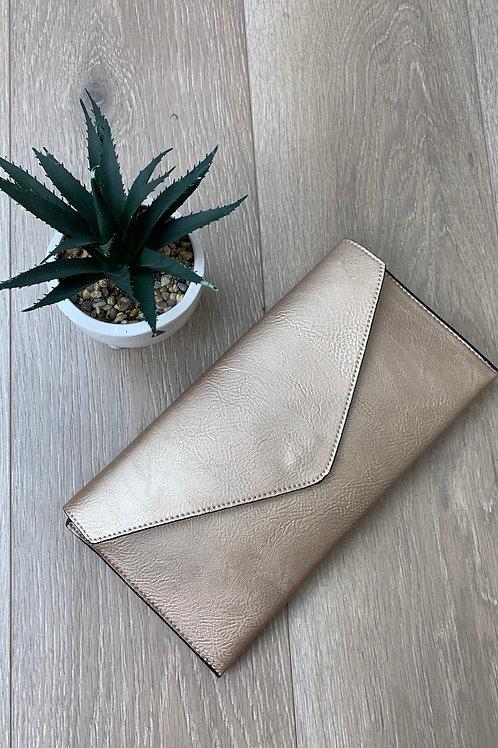 Gold Envelope Clutch Bag