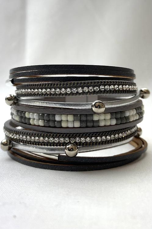 Grey Textured Bracelet