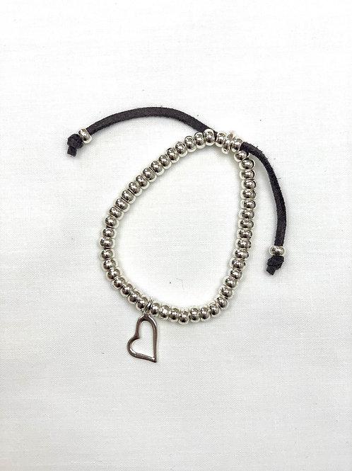 Silver Abstract Heart Bracelet